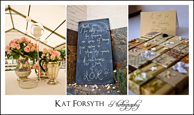Gauteng Wedding photographer Kat Forsyth chalkboard wedding details