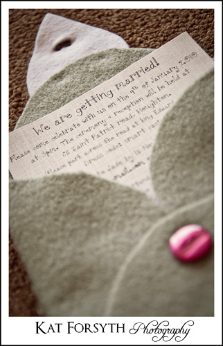 Jade Craig Wedding Invitation
