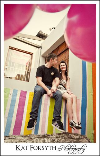 Engagement session Johannesburg Balloons