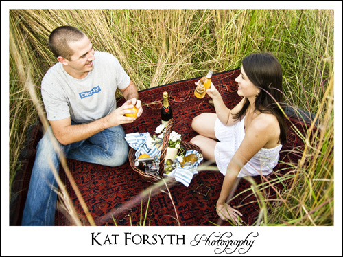 Country picnic engagement