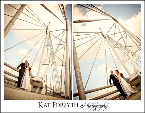 Nelson Mandela Bridge trash the Dress photographer