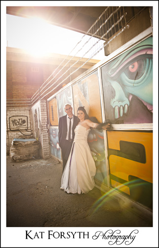 Graffiti Newtown Trash the dress South Africa