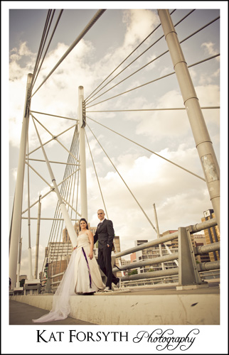 Trash the Dress Newtown bridge