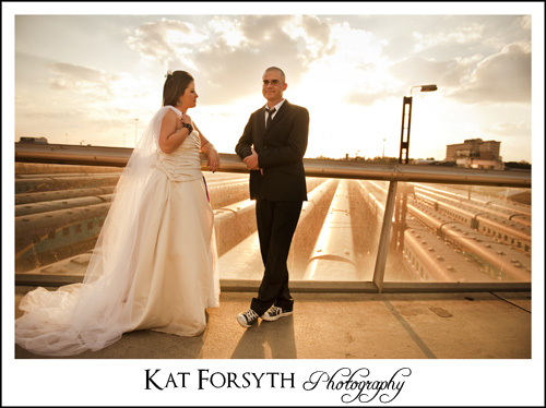 Old trains bridge trash the Dress Johannesburg Photographer