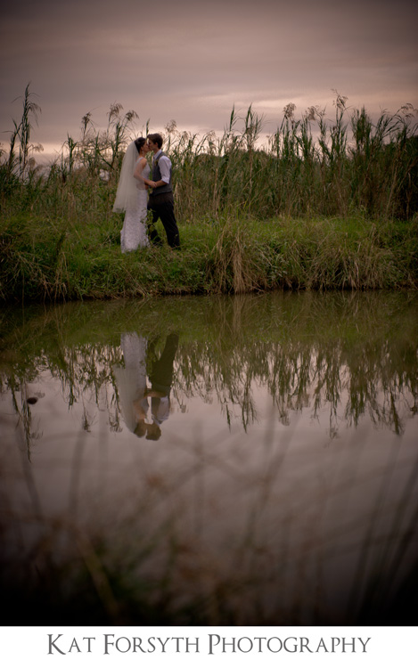 Reflection water wedding