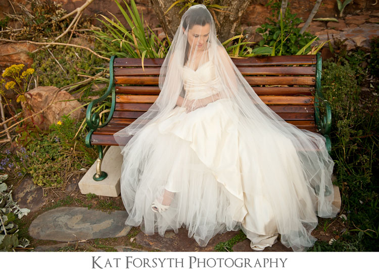 Bride long veil portrait wedding photographer