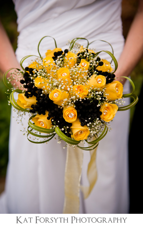 Yellow black bouquet