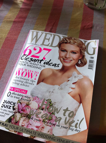 featured in wedding magazine