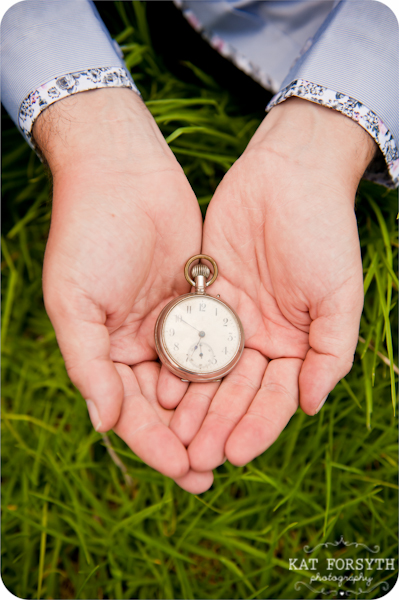 Groom wedding pocketwatch