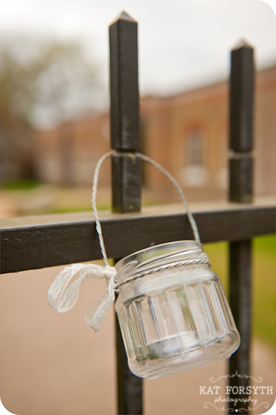 mason jar candle in jam jar