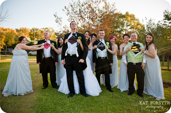 Superhero groomsmen tshirts wedding