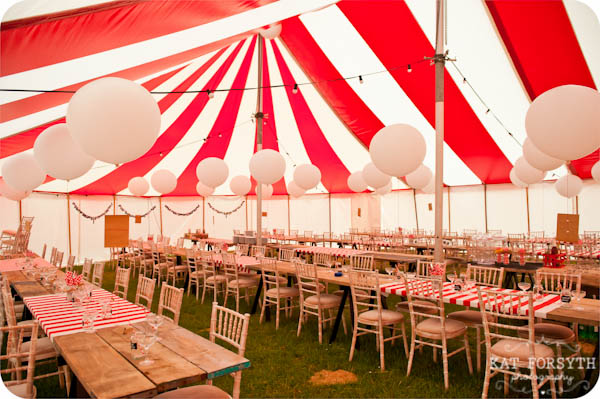 Circus carnival vintage wedding tent