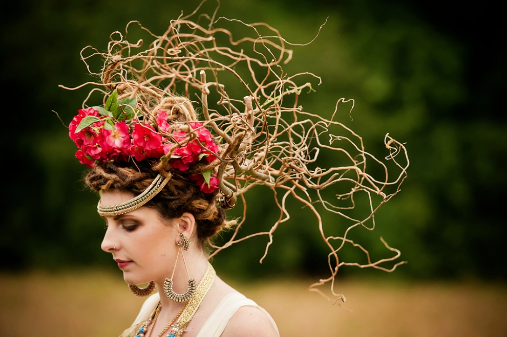 Bride twig headdress