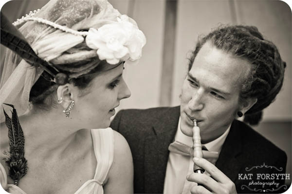 Alternative Offbeat quirky London wedding photographer (46)