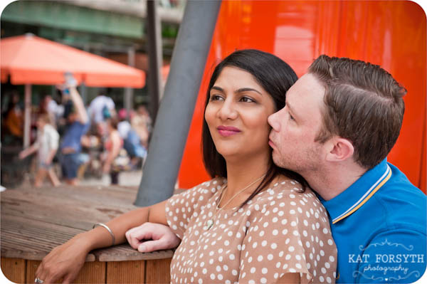 London southbank graffiti colourful engagement couple shoot (2)