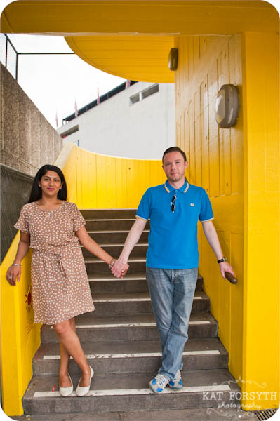London southbank graffiti colourful engagement couple shoot (12)