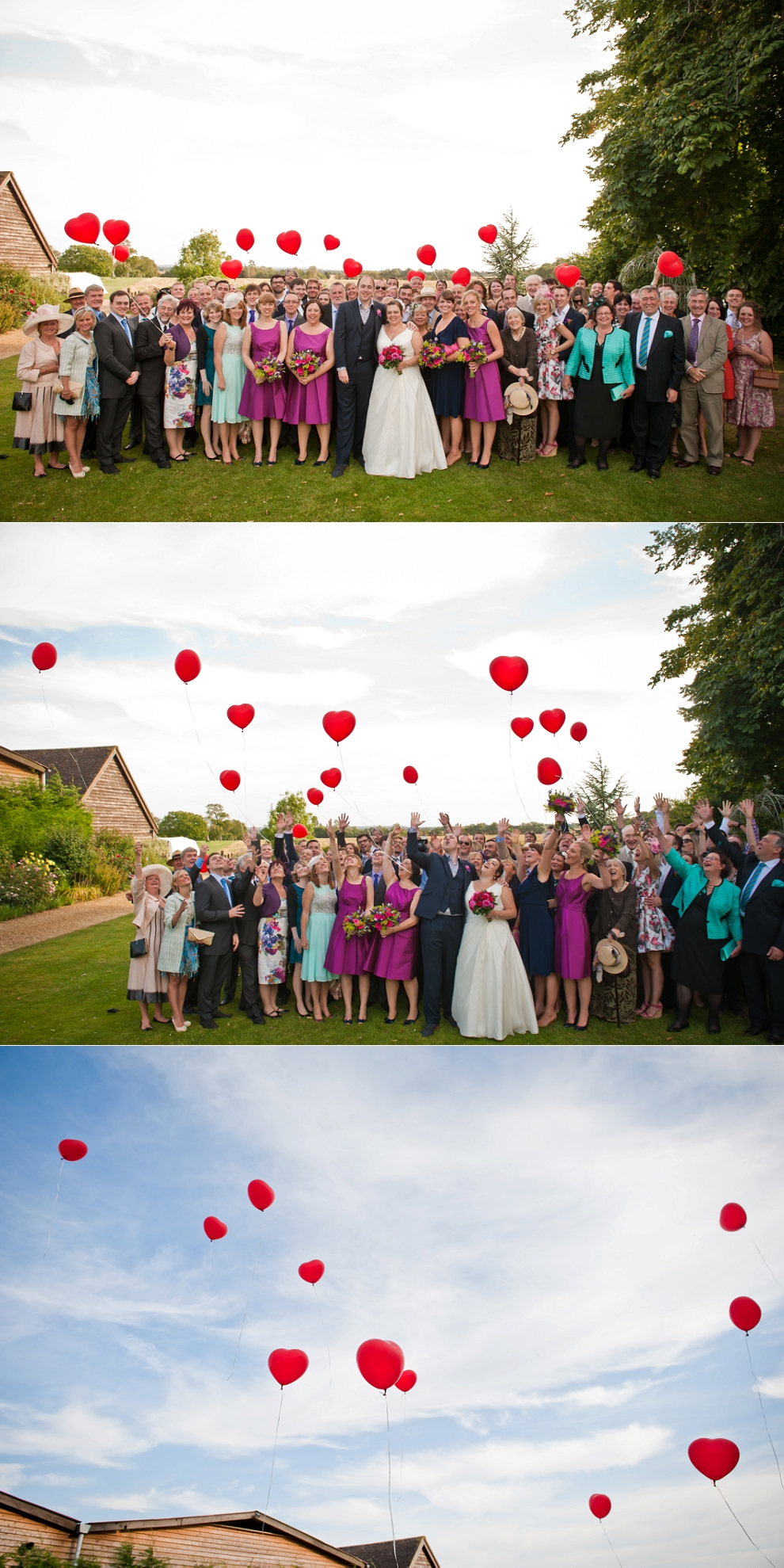 balloon release wedding Rickety Barns