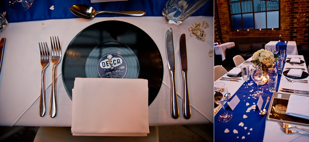 Vinyl LP wedding placemat
