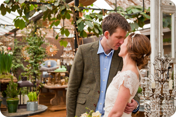 Petersham Nurseries Christmas wedding