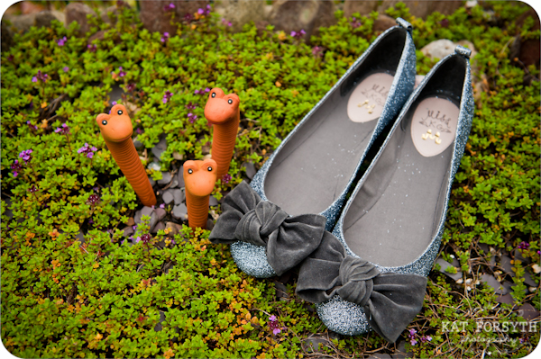 Cute quirky wedding shoe photo