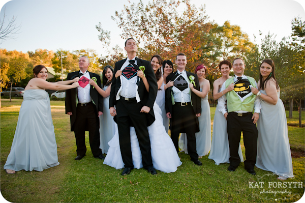 Groomsmen superhero shirts