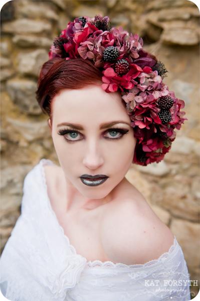Vintage gothic bride