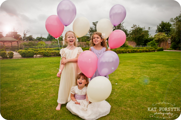 Flowergirls balloons Secret Garden