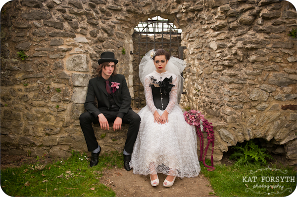 Alternative wedding gothic victorian vintage wedding (27)
