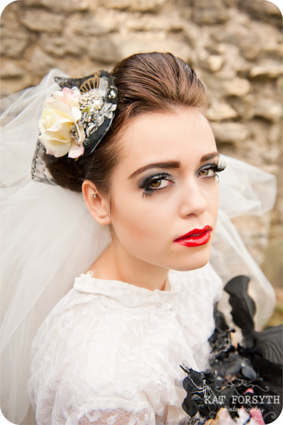 Alternative wedding gothic victorian vintage wedding (28)