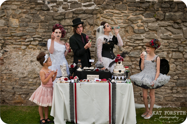 Alternative wedding gothic victorian vintage wedding (30)