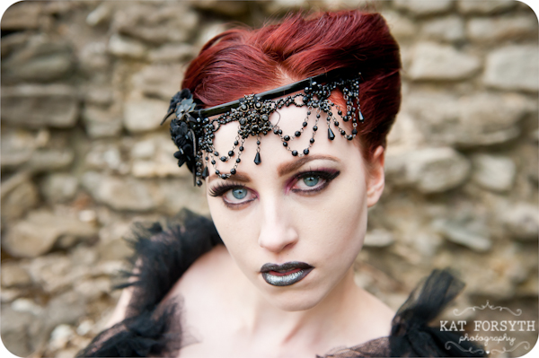 Alternative wedding gothic victorian vintage wedding (14)