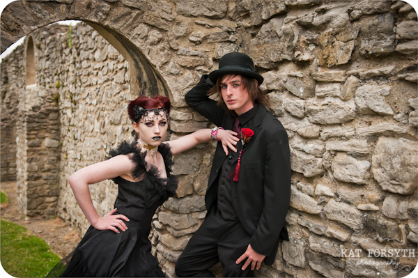 Alternative wedding gothic victorian vintage wedding (18)
