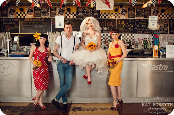 Rockabilly group wedding