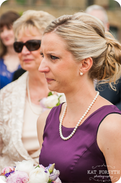 Bridesmaid crying