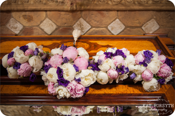 Wedding bouquets peonies