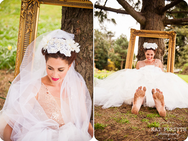 Fun bridal dirty feet