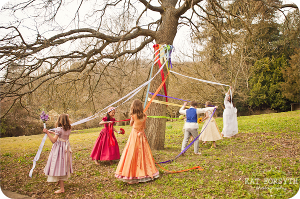 old English maypole wedding