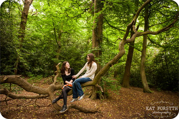 Engagement shoot in a forest