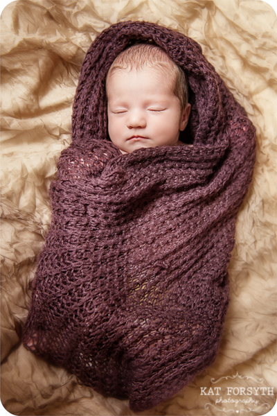 Newborn baby brown cocoon blanket