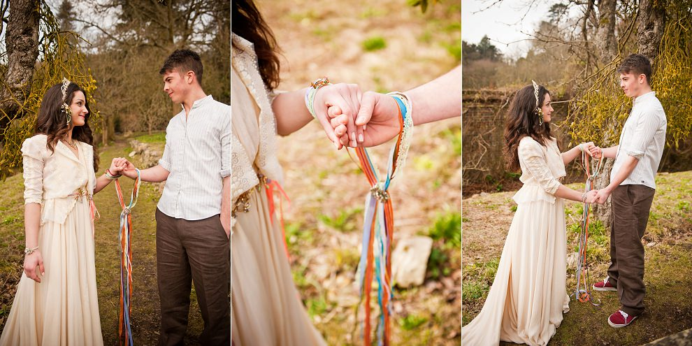 Handfasting wedding ceremony