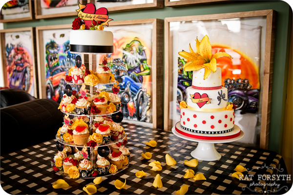Rock n Roll 50s wedding red yellow black (2)