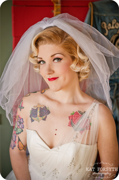 Tattooed bride wedding photos