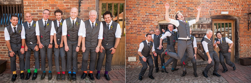 Groomsmen coloured socks wedding