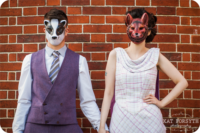 Animal Masks at wedding