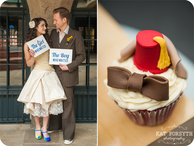 Doctor Who cupcake and wedding stationery