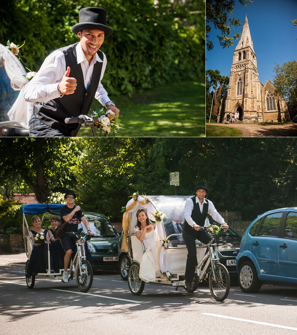 Bride rickshaw wedding London