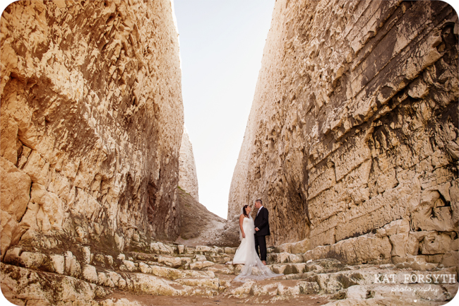 Cliffs Botany Bay wedding Kent