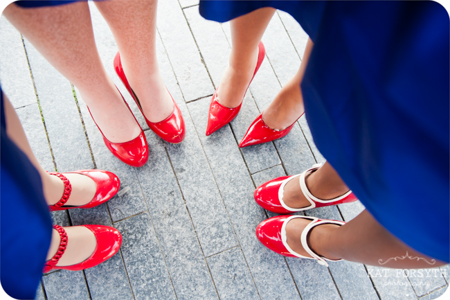 London Tower Bridge Bridesmaids shoes