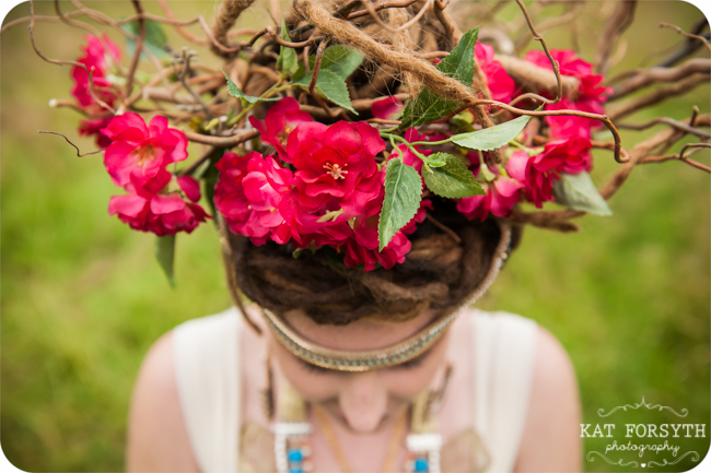 Bride Twig & Rose headdress