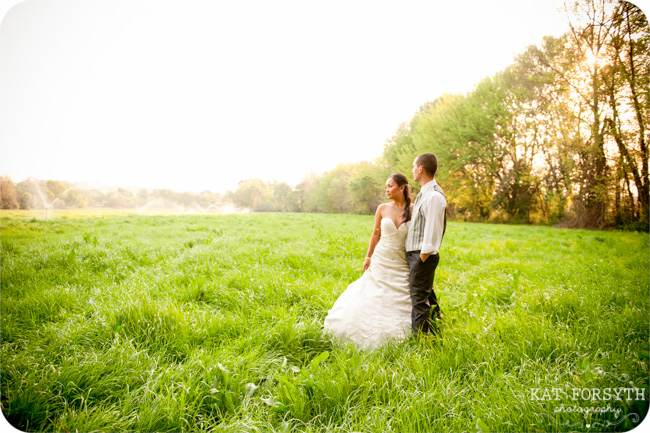 Green field Farm trash the dress